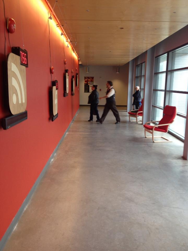 FOMOphobia installation at the UC Santa Cruz Digital Art Research Center