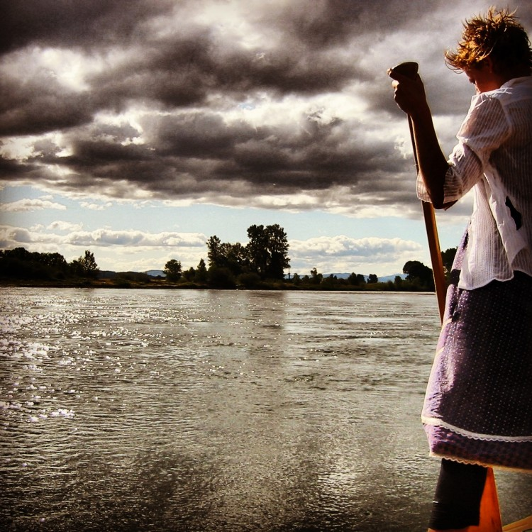 Sylvia on the Willamette River