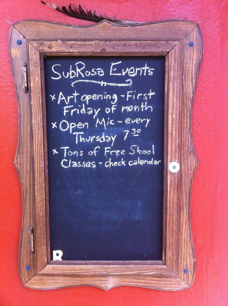 SubRosa events