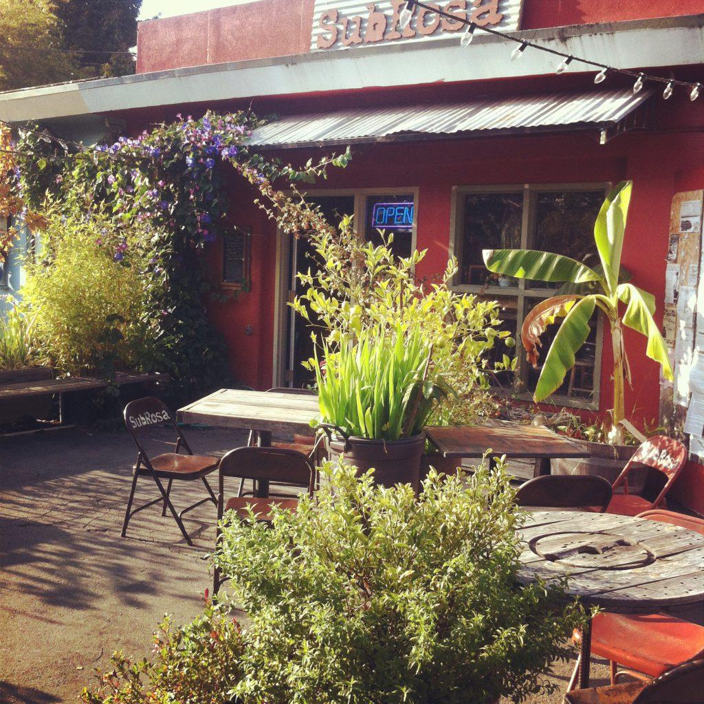 SubRosa features a patio garden