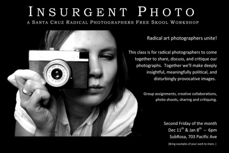 Photography workshop for radical photographers
